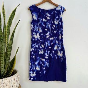 Ann Taylor royal blue floral dress